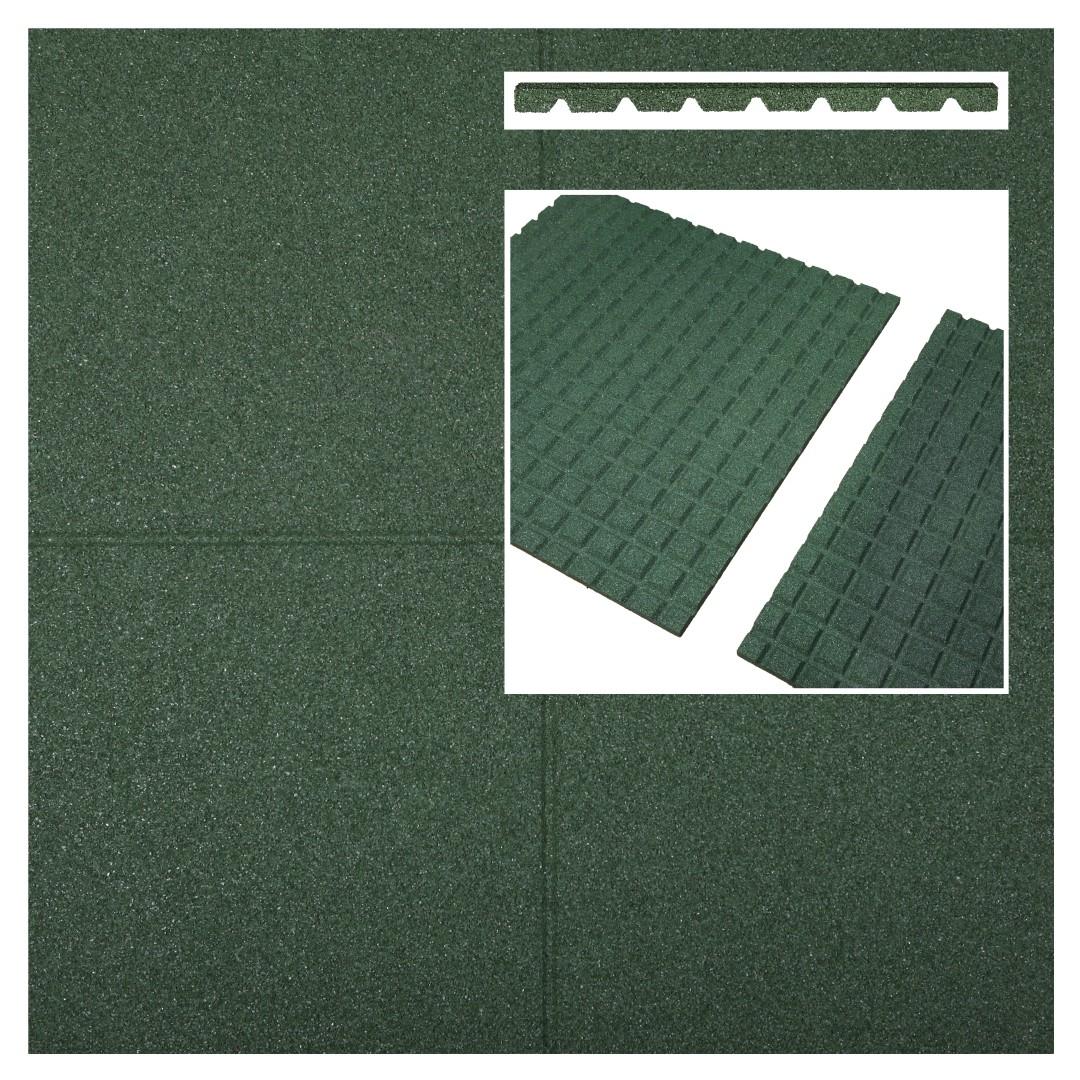 Fallschutzmatten Fallschutzplatten grün 500x500x65mm