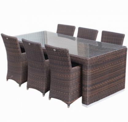 Gartenmöbel polyrattan dining set