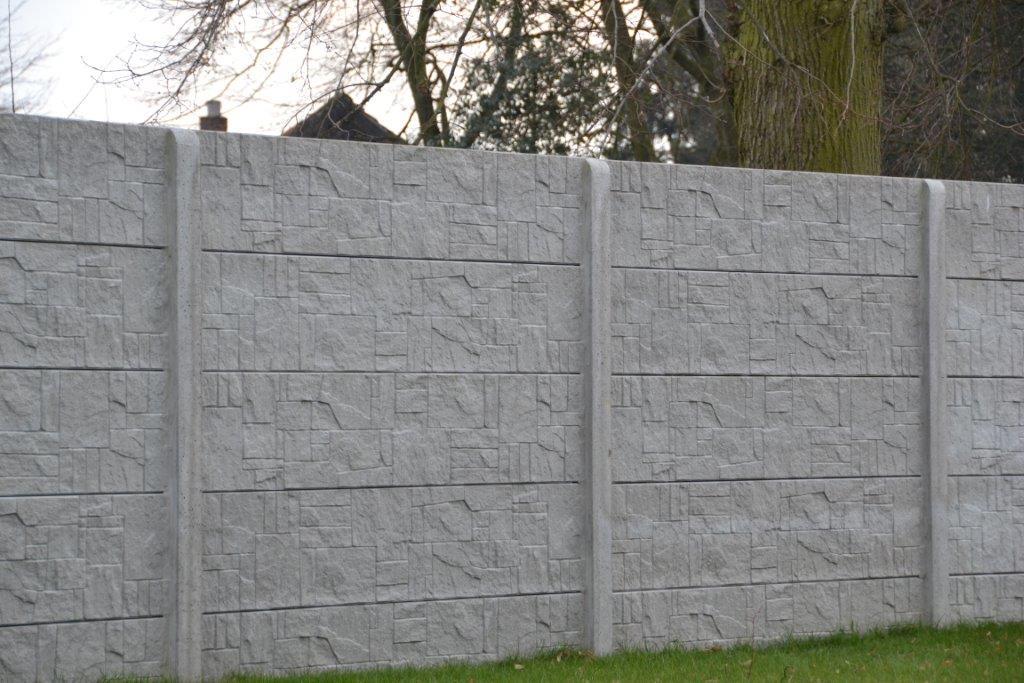 Betonschutting stepstone enkelzijdig 200x231cm