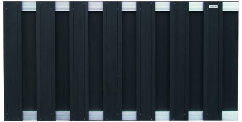 Tuinscherm schutting composiet zwart 180x93cm