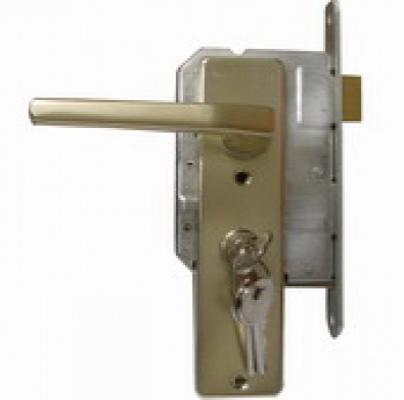 Insteekslot deurslot poortslot met profielcilinder voor oa. poortframe of tuinpoort
