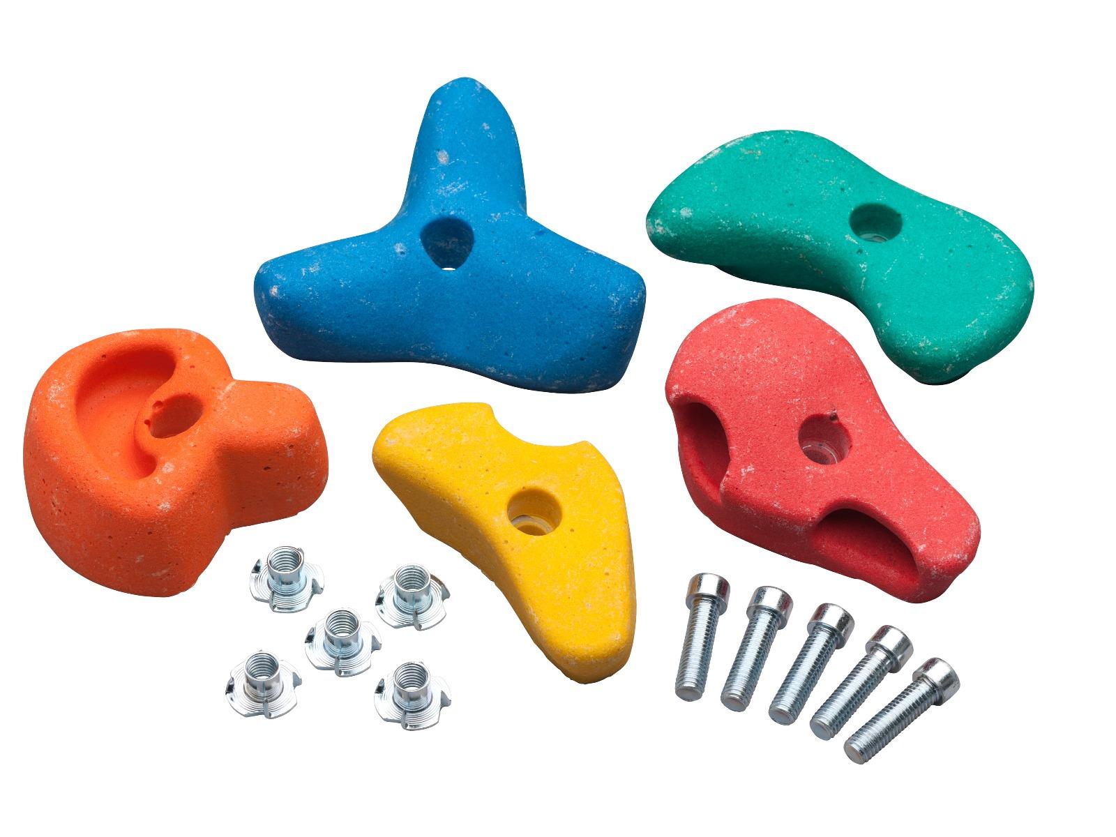Klettersteine Spielgeräte Holzschaukel