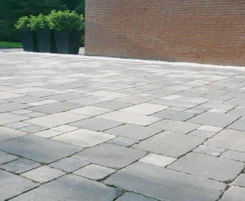 Pflastersteine Koppelstones gekollert grau