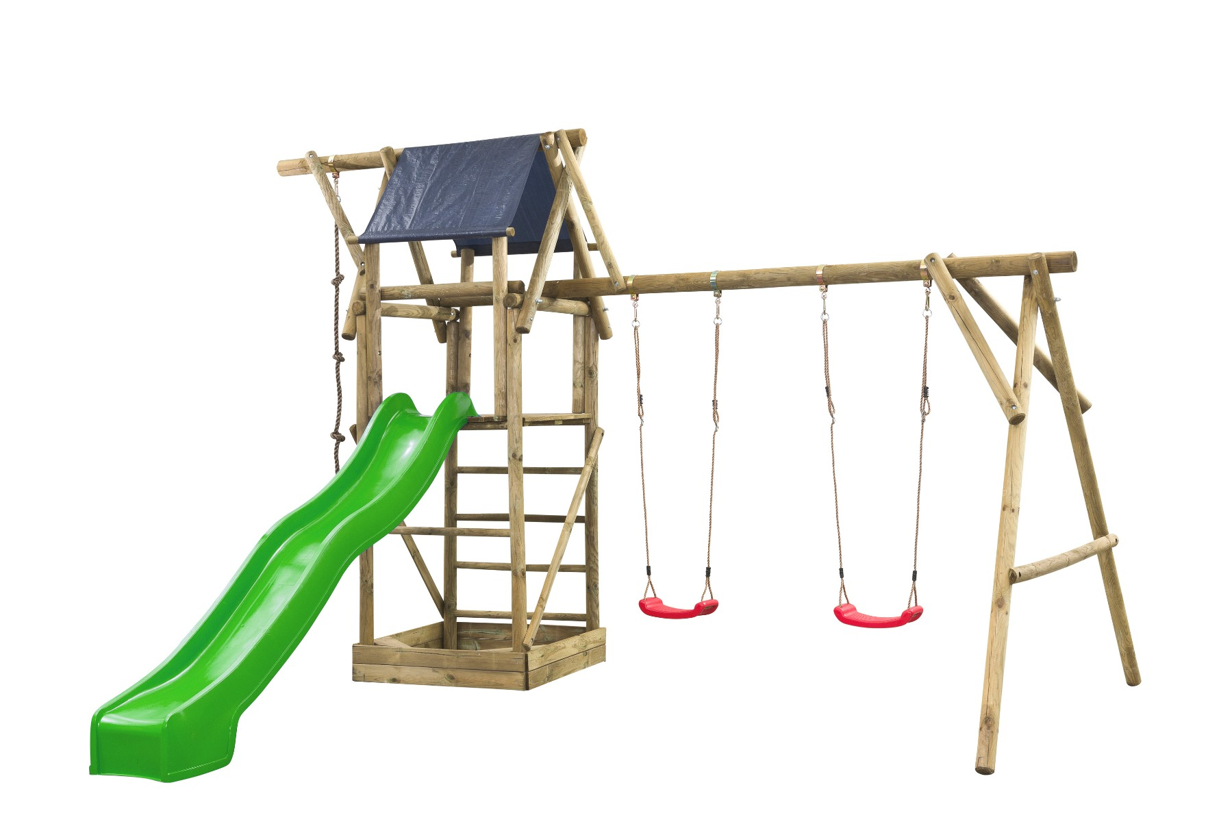 Houten speeltoestel Nelis 380x500x290cm