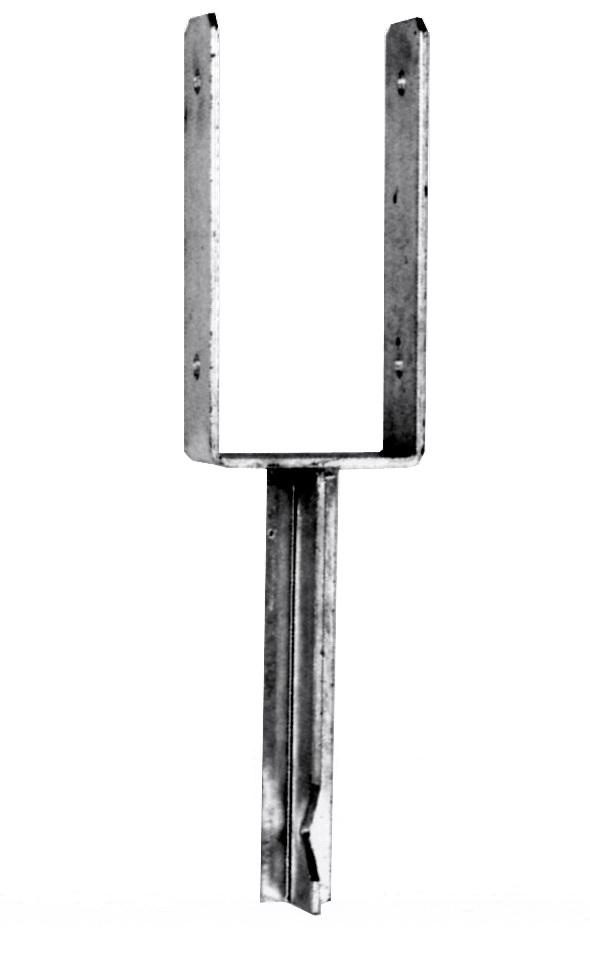 u-pfostentrager-mit-steindolle-121mm