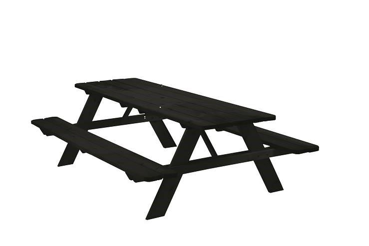 Picknicktafel zwart 180cm