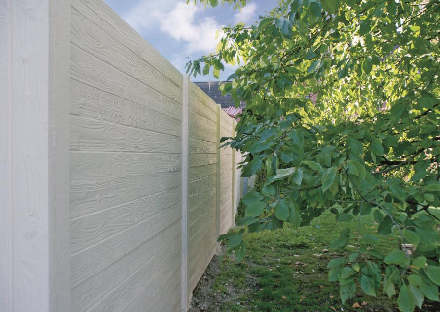 Beton schutting wood texture dubbelzijdig 200x193cm