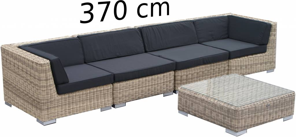 Loungemöbel London 1221 - Naturel - polyrattan rundes Geflecht