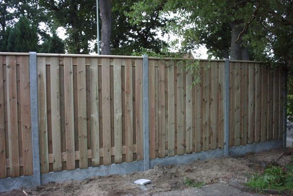 Hout beton schuttingen 200x190cm 21 planks per set
