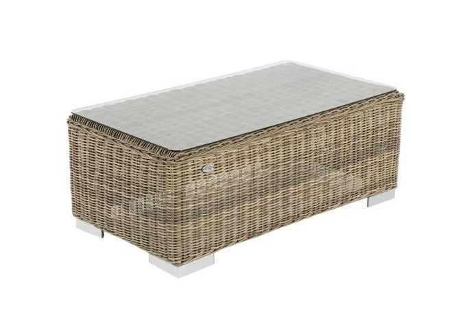 Loungetisch Paris - Naturel - rundes Polyrattan