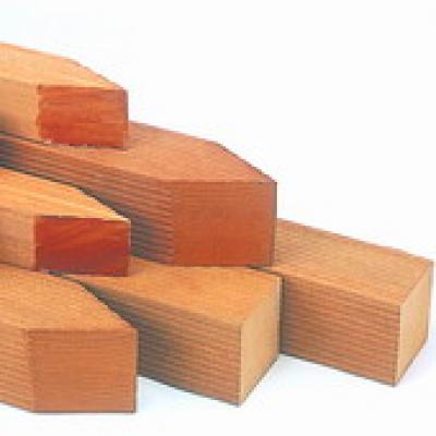Pfosten bangkirai hartholz