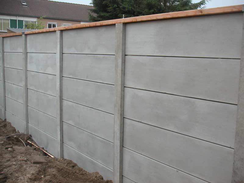 Beton schutting grijs 200x193cm per set