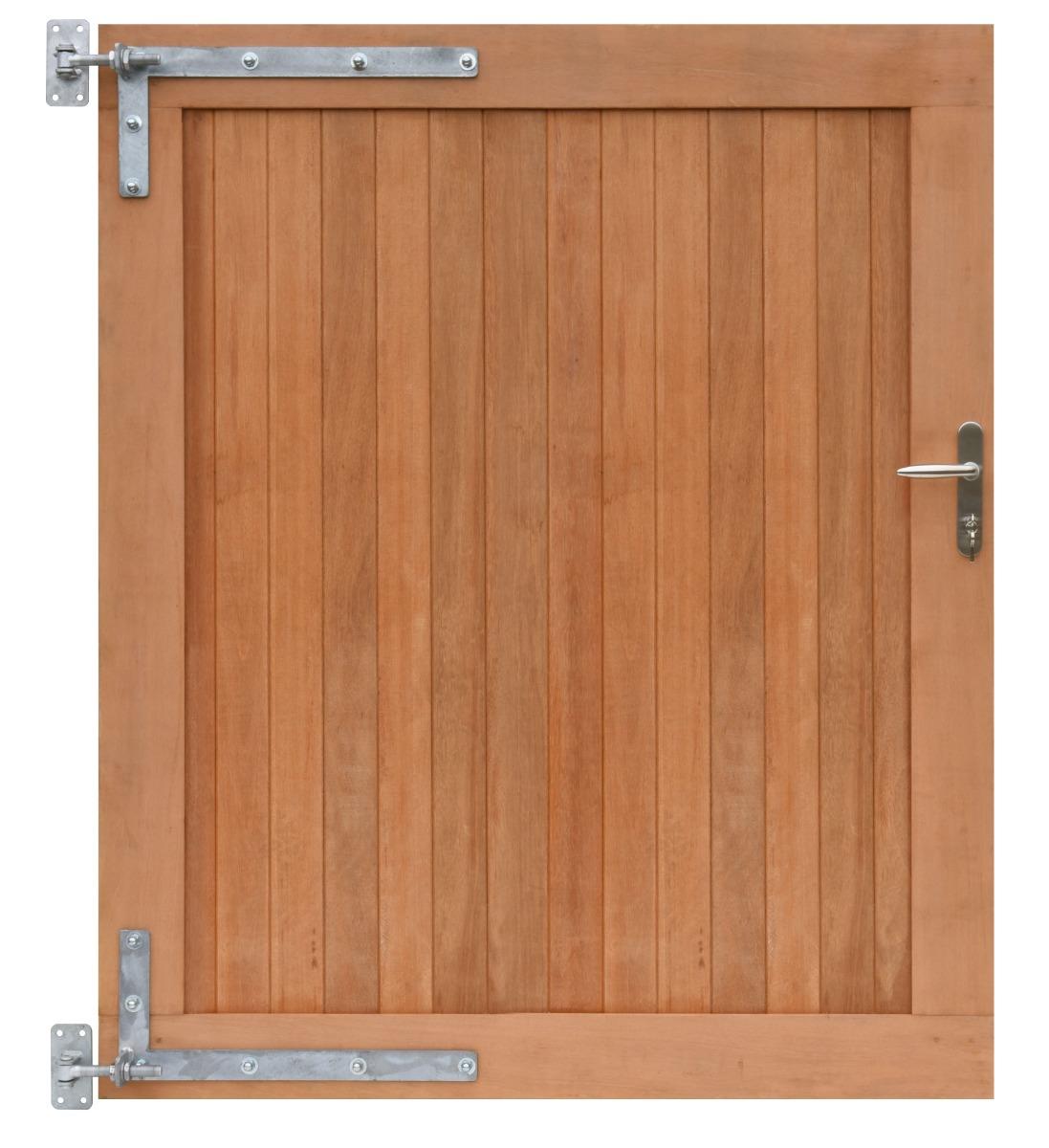 Poort tuinpoort Bangkirai hardhout 300x180cm (2 delig 150x180cm)